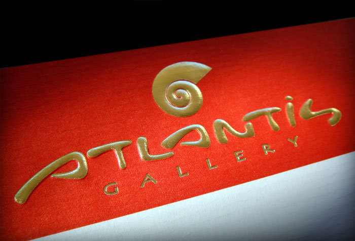 """Atlantis Gallery"" logo on letterhead"