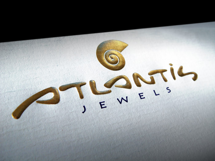 """Atlantis Jewels"" logo on mail folder"