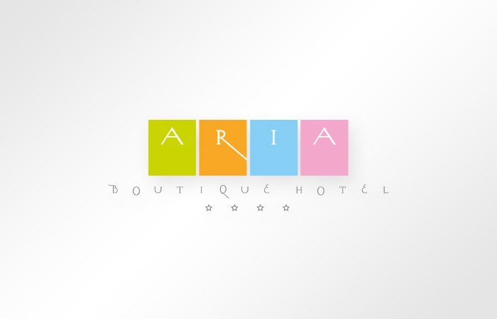 Aria Boutique Hotel - logo design