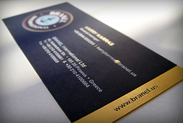 """Branel International"" businesscard's detail"