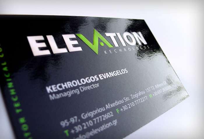 """Elevation"" business card"