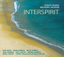 "Yiorgos Fakanas ""Interspirit"" CD label, cover and booklet design"