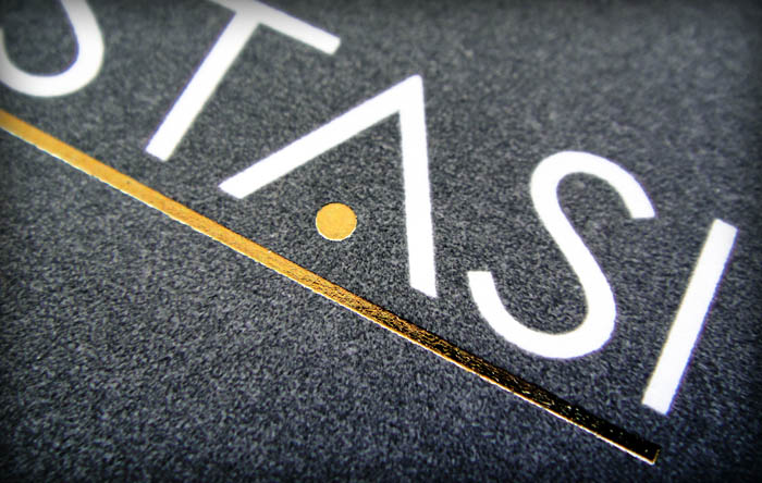 """Liostasi"" business card - front side - detail"