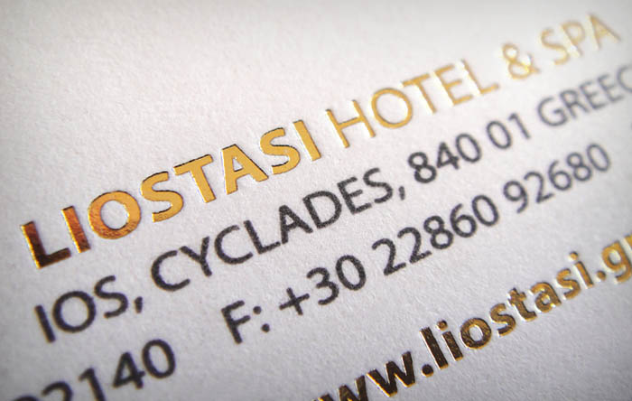 """Liostasi"" business card - back side - detail"