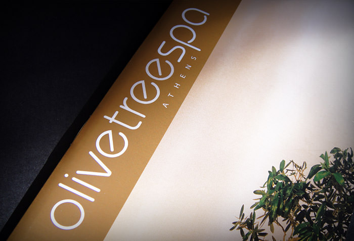 """Olive Tree Spa"" brochure's cover design"