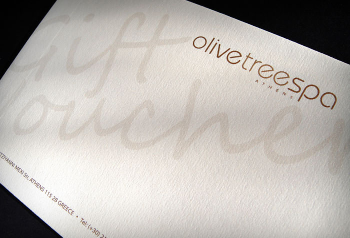 """Olive Tree Spa"" - gift voucher envelope"