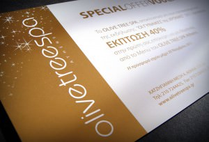 """""""Olive Tree Spa"""" - special offer voucher"""