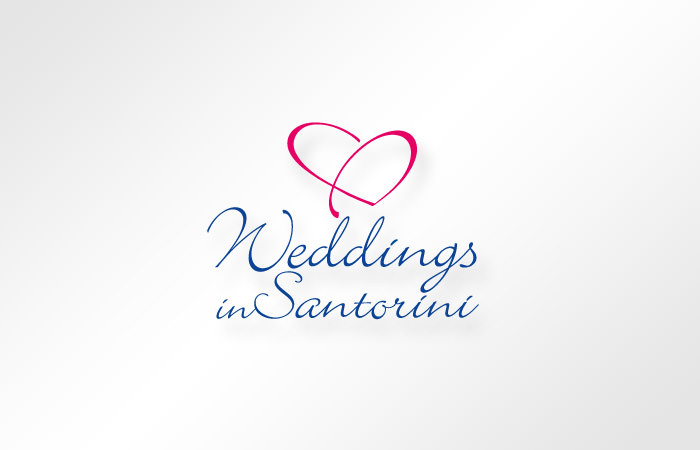 Weddings in Santorini - logo design