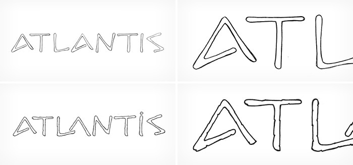 Atlantis Jewels Santorini - handmade logo design