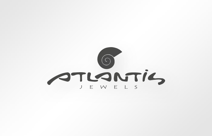 Atlantis Jewels Santorini logo design
