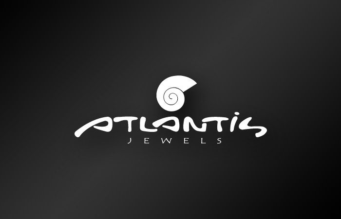 Atlantis Jewels Santorini - logo design