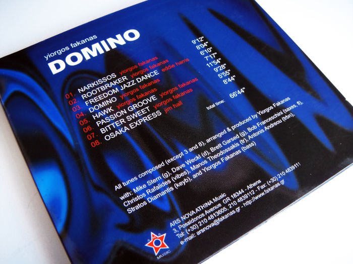 "Yiorgos Fakanas ""Domino"" CD label, cover and booklet design"