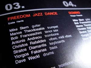 """Yiorgos Fakanas """"Domino"""" CD label, cover and booklet design"""