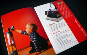 """""""iKid Centers"""" 24 pages formal brochure design -Size: 14 x 21 cm"""