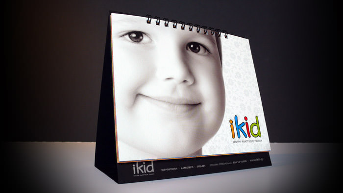 """iKid Centers"" table calendar design - Size: 15 x 14 cm"