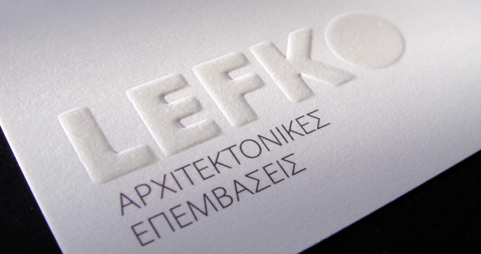 """Lefko Architectural Design"" businesscard"