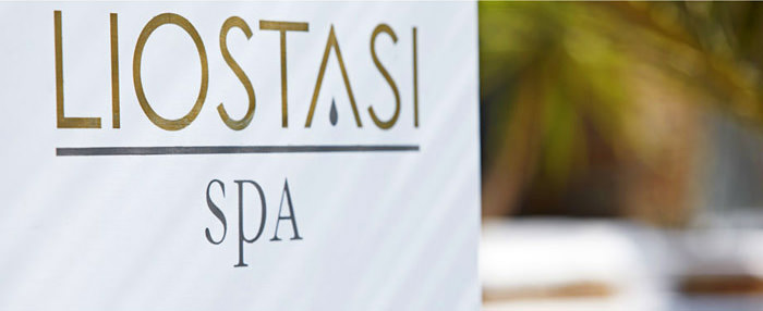 """Liostasi Spa Ios"" exterior sign-label design"