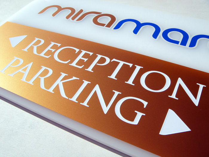 """Miramare"" exterior sign-label design"