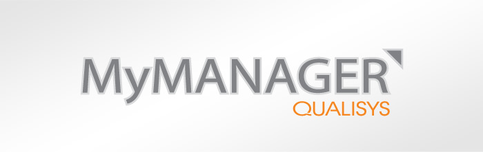 """My Manager"" logo for Qualisys Software"