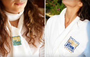"""Saint John Mykonos"" embroidered logo"