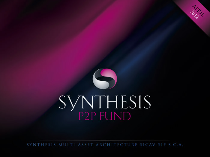 """Synthesis"" P2P FUND - cover for a digital brochure"