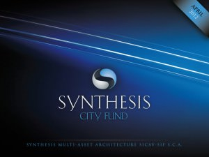 """Synthesis"" CITY FUND. - cover for a digital brochure"