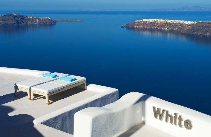 """White Santorini"" entrance"