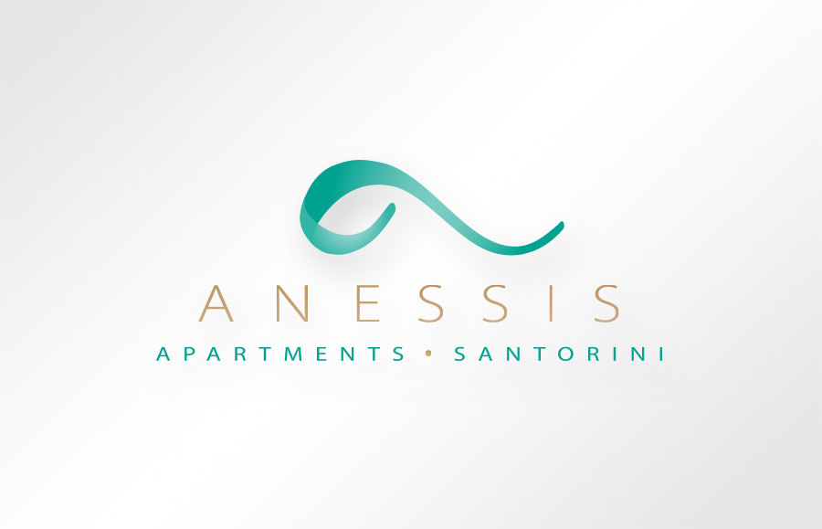 ANESSIS APARTMENTS Santorini logo design