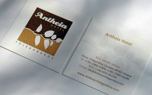 ANTHEIA HOTEL business cards design and print