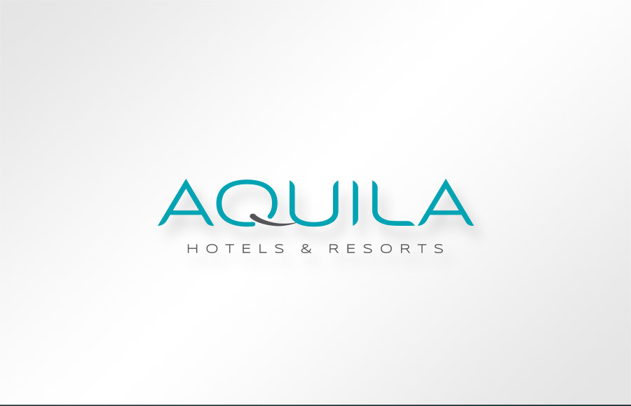 AQUILA Hotels & Resort logo design