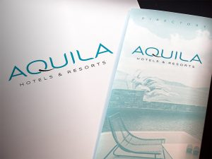 Aquila Hotels & Resorts flyer brochure and folder