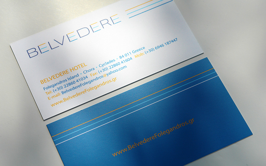 BELVEDERE Hotel Folegandros business cards