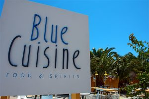 BLUE CUISINE Restaurant label-sign design and construction
