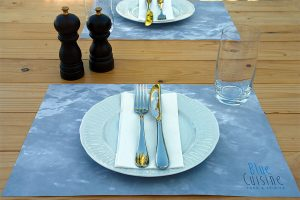 BLUE CUISINE Restaurant placemats design