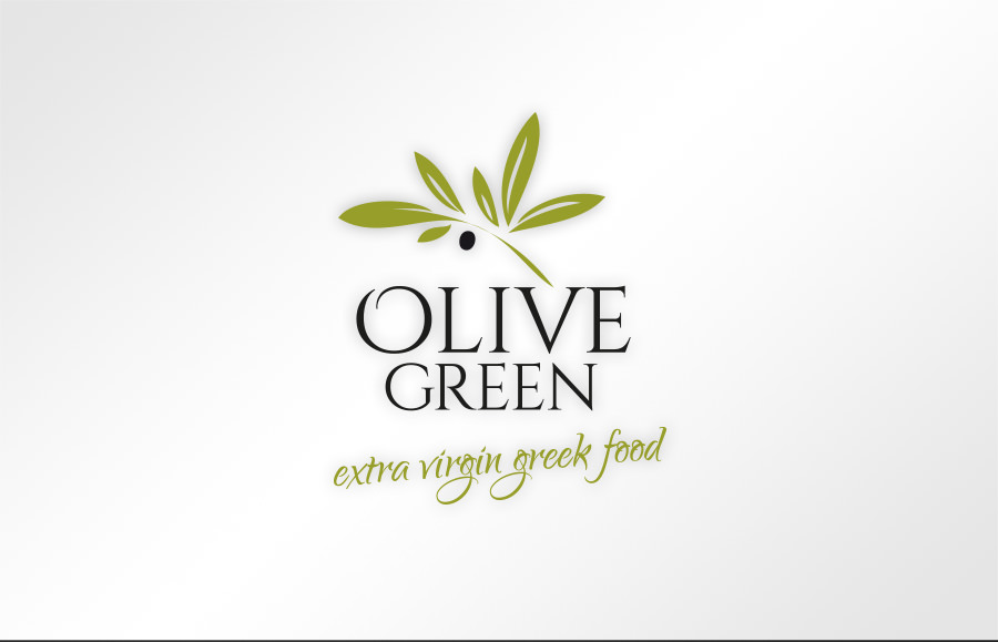 OLIVE GREEN RESTAURANT logo design
