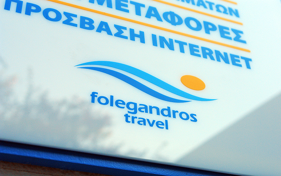 Folegandros Travel signs-labels design and construction