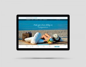 Folegandros Hotels website design and construction