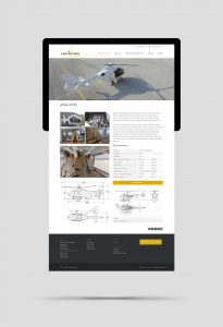 Helistar website design and construction